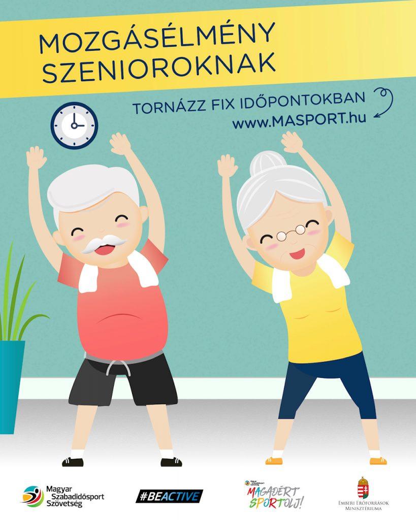 A Magyar Szabadidősport Szövetség (MASPORT) az időseknek szeretné megkönnyíteni a jelenlegi nehéz időszakot a Mozgásélmény szenioroknak Programmal.